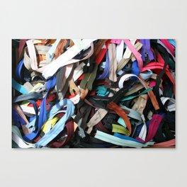 Zippers Canvas Print