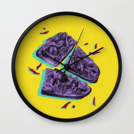 Favourite Food - Yellow by Chrissy Curtin Wall Clock