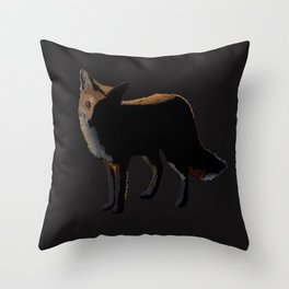 Fox in the Night Throw Pillow