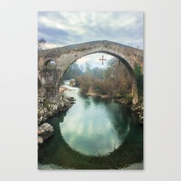 The hump-backed Roman Bridge Canvas Print