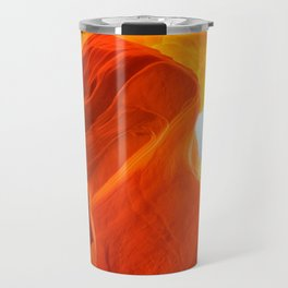 Antelope Canyon with Clouds Travel Mug