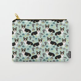 Corgi meteorologist storm chaser welsh corgi fun dog breed customary by pet friendly Carry-All Pouch