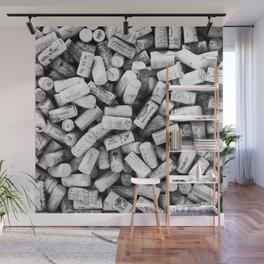 Something Nostalgic II Twist-off Wine Corks in Black And White #decor #society6 #buyart Wall Mural