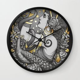Tribal belly dancer witch Wall Clock