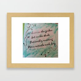 Garden Poem Framed Art Print