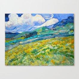Mountain Landscape behind the Saint Paul Hospital Painting by Vincent van Gogh 1889 Canvas Print