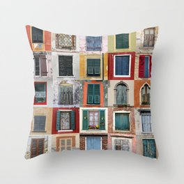 Twenty Five Windows Throw Pillow