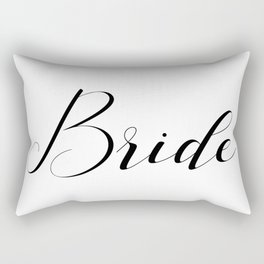 Bride - Black on White Rectangular Pillow