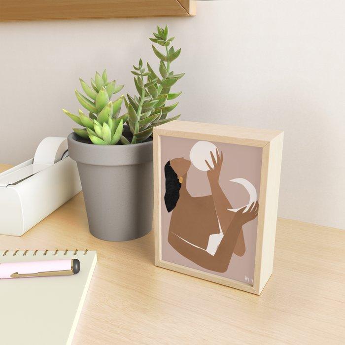 day and night Framed Mini Art Print
