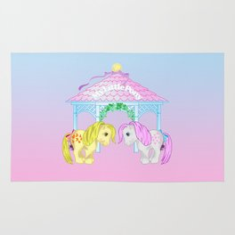 g1 my little pony snuzzle and butterscotch Rug