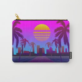 80s Retro Sci-Fi Background Carry-All Pouch