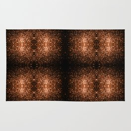 Beautiful Bronze Orange Brown glitters sparkles Rug