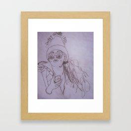 I tweet what I feel Framed Art Print