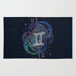 Gemini Zodiac Sign Air Element Rug