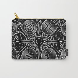 B&W Card Back from Side Effects Carry-All Pouch