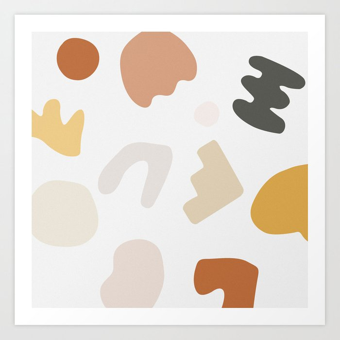 Abstract Shape Series - Autumn Color Study Kunstdrucke