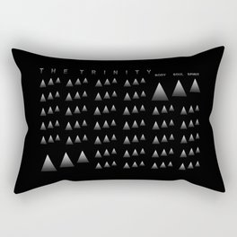 THE TRINITY: BODY SOUL SPIRIT Rectangular Pillow