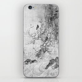 Landscape with Rapids BW iPhone Skin
