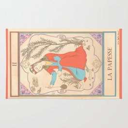 Tarot card-The Popess-The High Priestess-La Papesse Rug