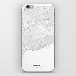 Toronto, Canada Minimalist Map iPhone Skin