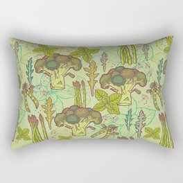 Green vegetables pattern. Rectangular Pillow