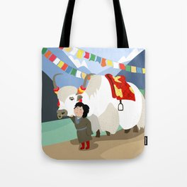 A child and his best friend Tote Bag