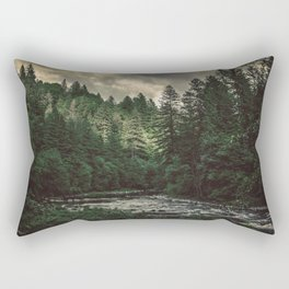 Pacific Northwest River - Nature Photography Rectangular Pillow