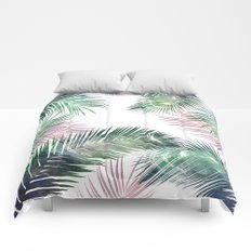 tropical leaves 2 Comforters