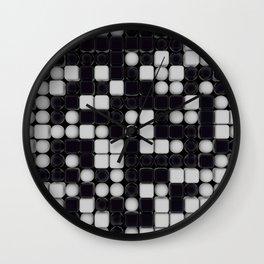 B&W Pattern III Wall Clock