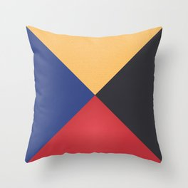 Primary Colors Triangles Throw Pillow