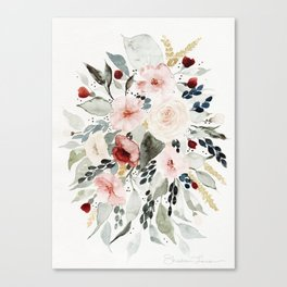 Loose Watercolor Bouquet Canvas Print