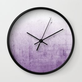 Radiant Orchid Purple Ombre  Wall Clock