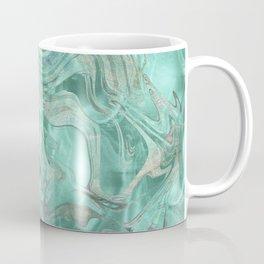 Mint Gem Green Marble Swirl Coffee Mug