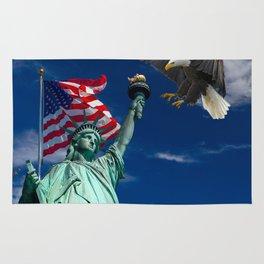 Bald Eagle a Lady Liberty Rug