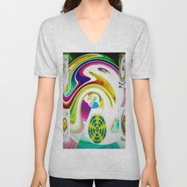 Abstract Perfection 25 Unisex V-Neck