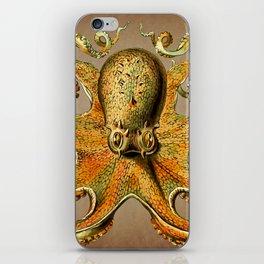 Vintage Golden Octopus iPhone Skin
