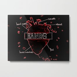 Band addicted Metal Print