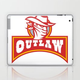 Bandit With Outlaw Text Retro Laptop & iPad Skin