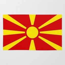 National flag of Macedonia - authentic version Rug