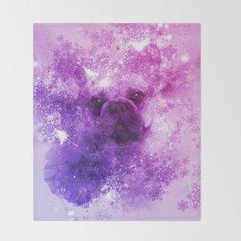 French Bulldog Christmas Holidays Throw Blanket