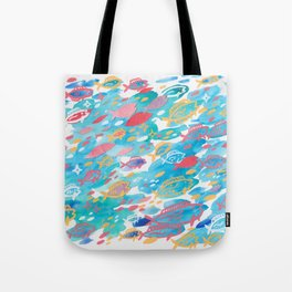blue school Tote Bag