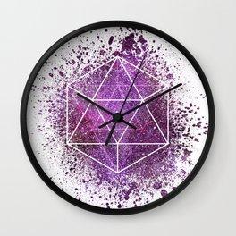d20 Icosahedron Crystal Wind Wall Clock