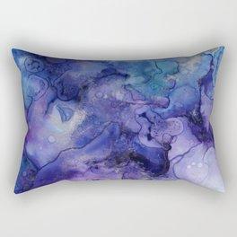 Abstract Watercolor Coastal, Indigo, Blue, Purple Rectangular Pillow