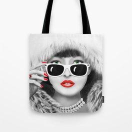 Winter Lady Tote Bag