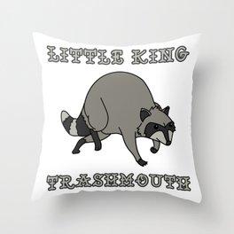 Linda Belcher's Little King Trash Mouth Raccoon Throw Pillow