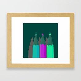 Coloring Pencils Framed Art Print