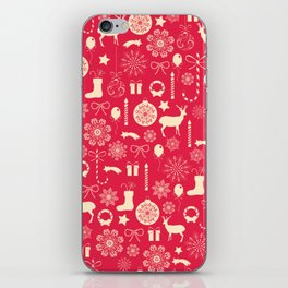 White Objects Christmas Pattern iPhone Skin