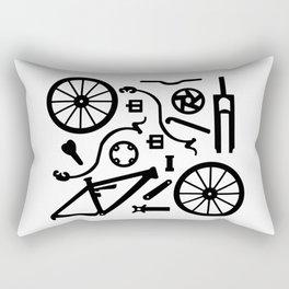 Bike Parts Full Suspension Rectangular Pillow