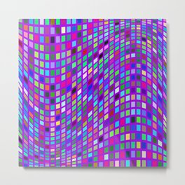 Lilac colorful Mosaic Metal Print