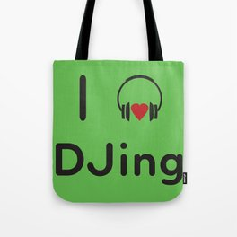I heart DJing Tote Bag